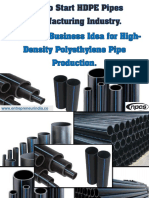How to Start HDPE Pipes Manufacturing Industry. Profitable Business Idea for High-Density Polyethylene Pipe Production.-419751