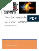 Investigación TurboCompresor -Mecánica Automotriz
