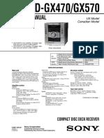 Sony Hcd-gx470 Gx570