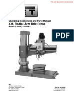 Jet 5ft Radial Drill Press