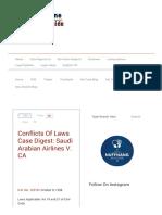 2. Saudi Arabian Airlines vs CA
