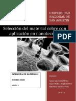 Nanopartículas de Cobre