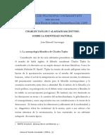Cincunegui, Juan Manuel - Charles Taylor y Alasdair MacIntyre. Sobre la identidad natural.pdf