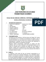 Derecho Sílabo Derecho Civil-I Título Preliminar y Personas 2016-I