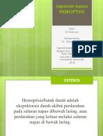 ppt hemoptisis