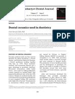 Dental Ceramics Used in Dentistry