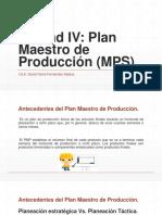 Unidad IV Plan Maestro