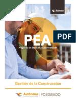 Gestion de La Construccion Brochure Digital Web