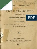 Vivaceta, Fermín - Unión y Fraternidad de Los Trabajadores