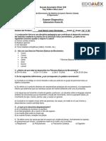 Examen Diagnostico Educacion Fisica III