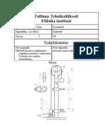 Füüsika I - Praktikum Nr. 5 - Kulgliikumine (EV)