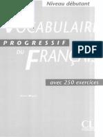Vocabulaire Progressif Du Francais Debutant (livre +corriges)_text