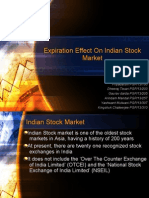 Expiration Effect on Indian Stock Market