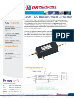 TGG Based 1030/1064nm Optical Circulator
