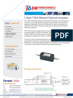 Tgg Based 1um Optical Isolator
