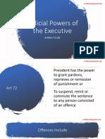 Judicial Power of the Executive