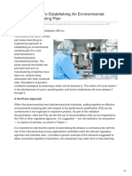 Pharmaceuticalonline.com-3 Prerequisites to Establishing an Environmental Monitoring Sampling Plan