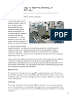 Pharmaceuticalonline.com-Using Lean Strategy to Improve Efficiency in Pharmaceutical QC Labs