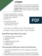 Masa para crepes - Thermomix