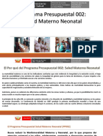 Programa Presupuestal Materno