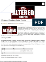 25 Altered Guitar Chords - Theory and Shapes
