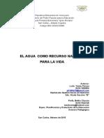 CONGRESO PEDAGOGICO EL AGUA febrero.doc