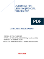 27. Procedures for Challenging Judicial Orders (Print)