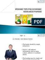 Seven Awesome Tips for Economic Research Papers