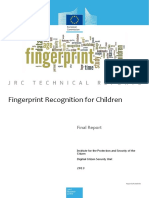 Fingerprint Recognition for Children Final Report (PDF)