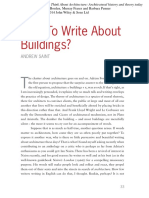 how to write about buildings