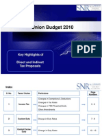 Budget Highlights 2010 SNR