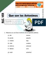 Los Antonimos
