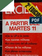 Revista Ercilla, Ejemplar 1.991. Septiembre 1973