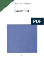 Reproduktives Entwerfen No 0 Manifest