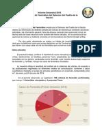 Informe femicidios primera semestre 2018
