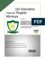 Proyecto Educación Para La Democracia 2018-Junio