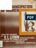 The Emancipation of Women; From the Writings of v.I. Lenin