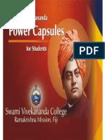 Vivekananda Power Capsules for Students, - Swami Tadananda
