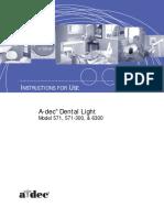 A-dec 571 and 6300 Dental Light.pdf
