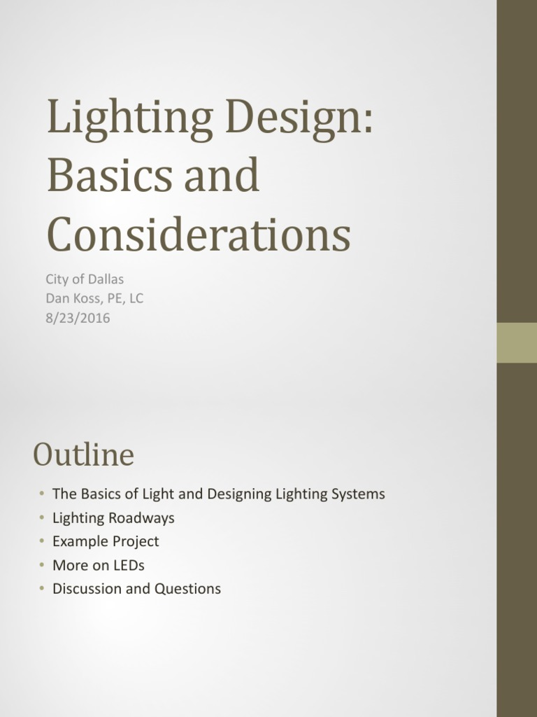 Lighting Design Basics And Considerations.pdf   Lighting   Light Emitting  Diode