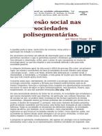 Marcel Mauss - A Coesao Nas Sociedades Polisegmentarias