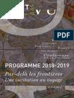 Livret Programme VU PAS VU - Saison 2018-2019