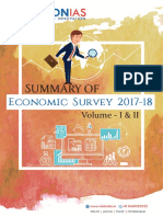 Economic Survey Summary 2017-18 Volume 1 and 2