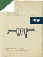 Rote Armee Fraktion – Das Konzept Stadtguerilla
