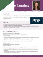 lianne lapalme resume