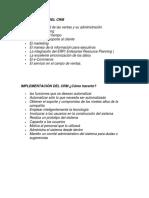 componentes del crm