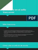 Citar Estilo Vancouver