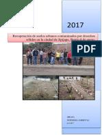 Informe Final Del Proyecto Recuperacion de Suelos. 2017