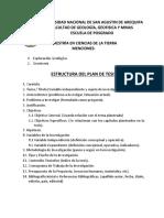 Estructura Del Plan de Tesis - Fggm