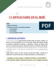 11. DIFICULTADES EN EL BEBEì (1ª parte)